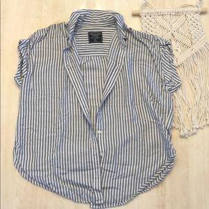 Short-Sleeve Boyfriend Shirt